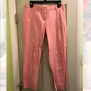JCREW Cropped Ankle Pants. Size 2 - Pink